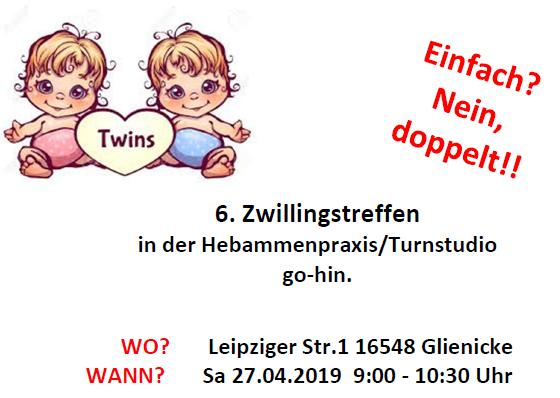 Zwillingstreffen Flyer